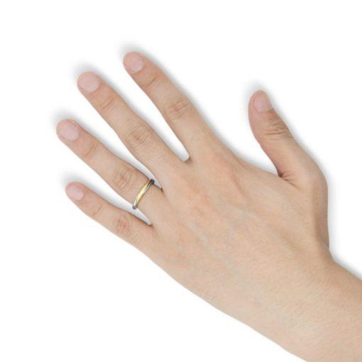 指にはめる【カバラ コレクション】 18Kゴールド&シルバー ギメルリング