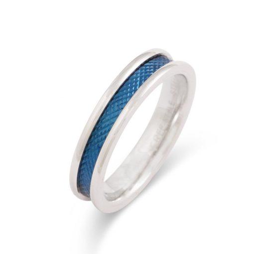 ブルーライン-ステンレスリングFSSTR029-BLUE